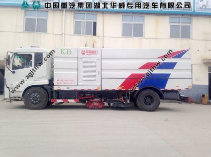 东风天锦大型清洗扫路车图片