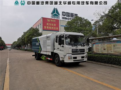 东风天锦国六扫路车图片