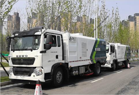 陕西西安市政环卫吸尘车服务案例