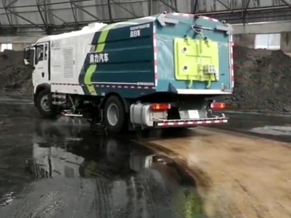 神火集团洗煤厂—重汽T5G洗扫车交付案例