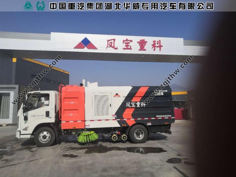 河南凤宝重科—江铃N800洗扫车交付案例